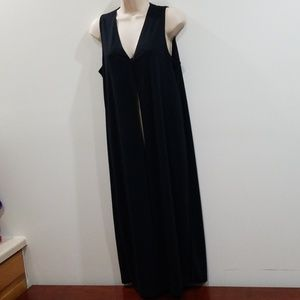 Coldwater creek women's long black cardigan duster